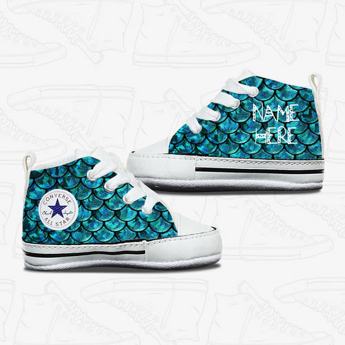 Mermaid Baby Infant Converse Shoes