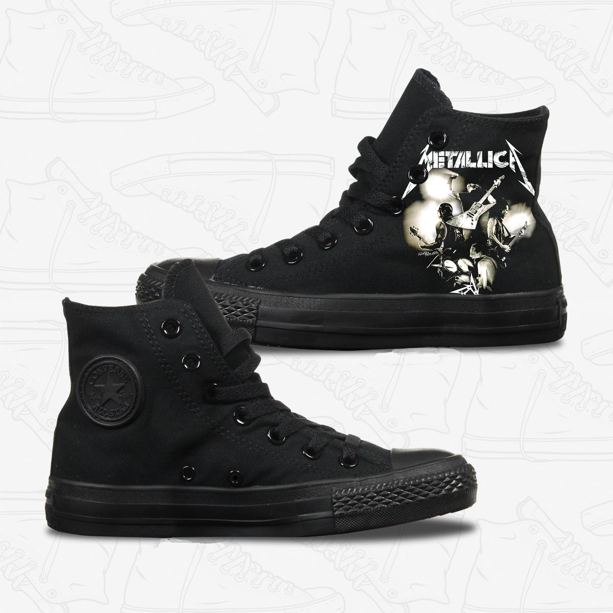 Metallica Adult Converse Shoes