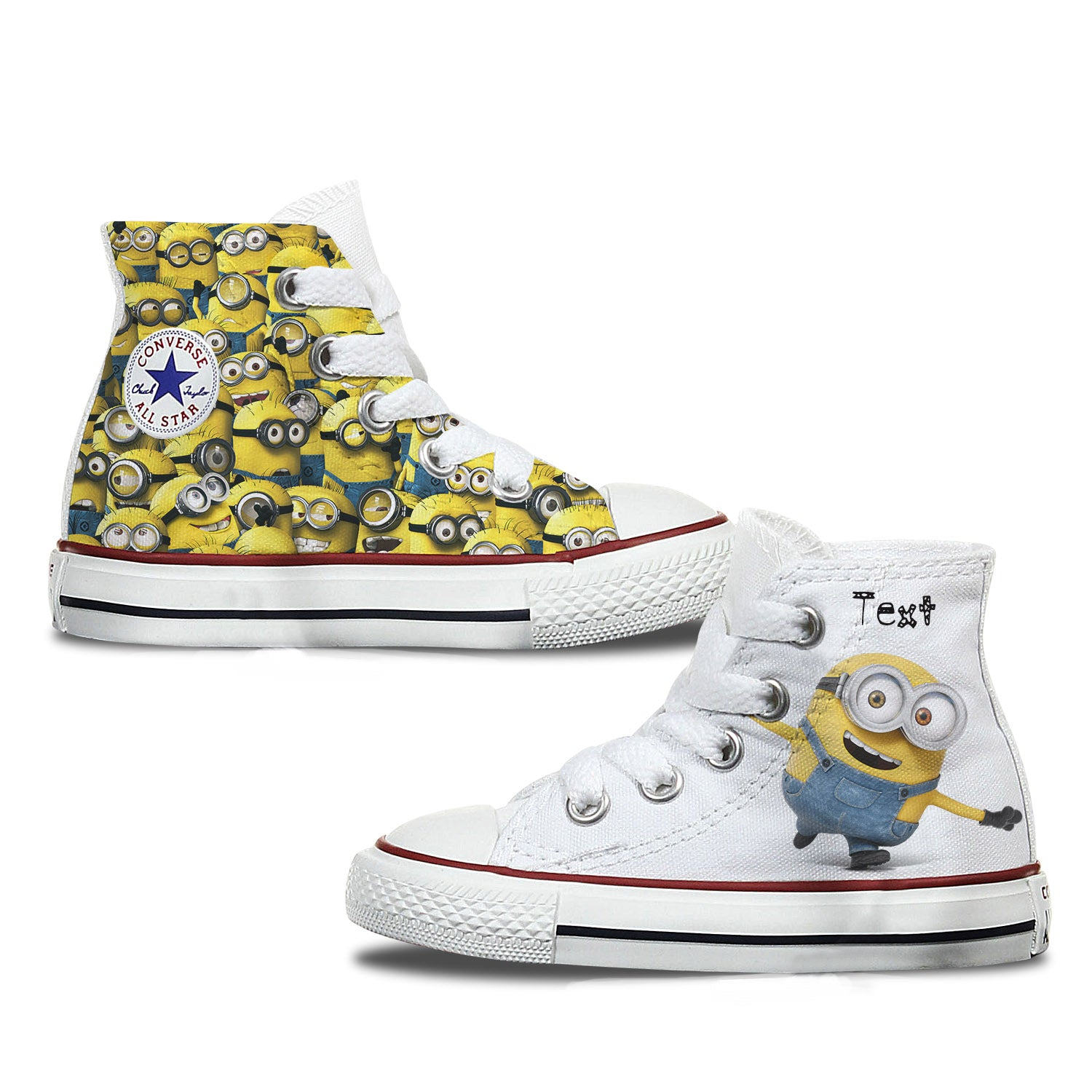 Toddler Minions Custom Converse