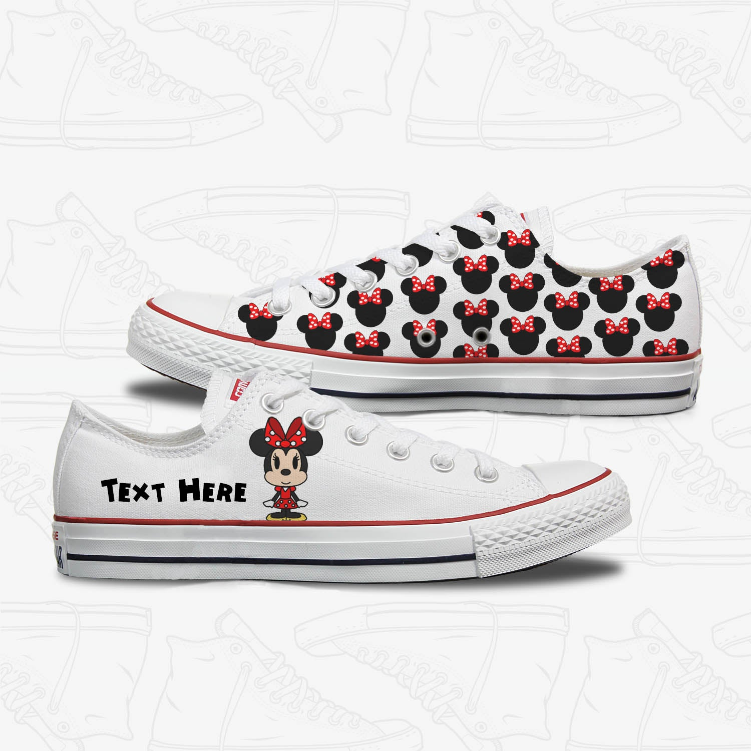 Minnie Mouse Adults Custom Converse
