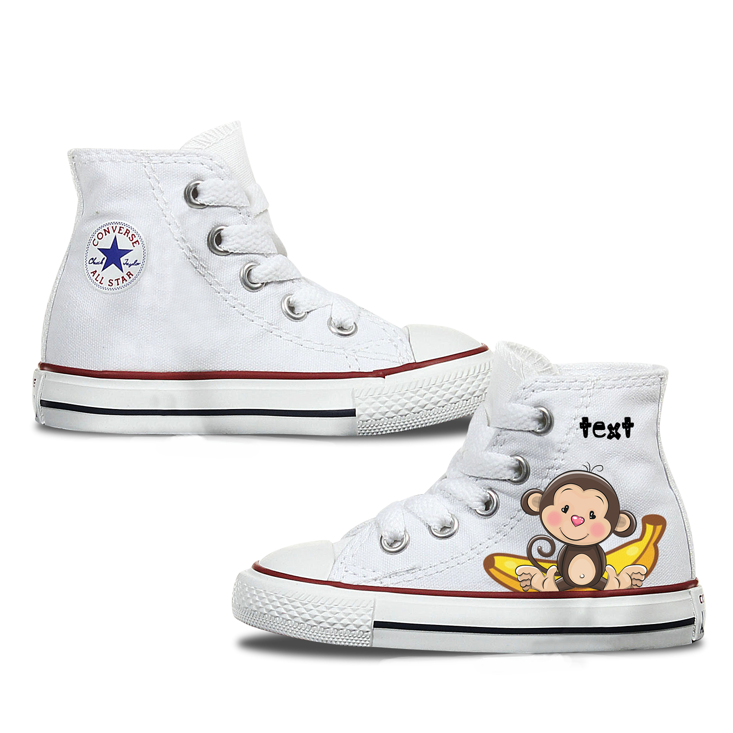 Monkey Kids Custom Converse