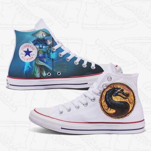 Mortal Kombat Adult Converse Shoes White
