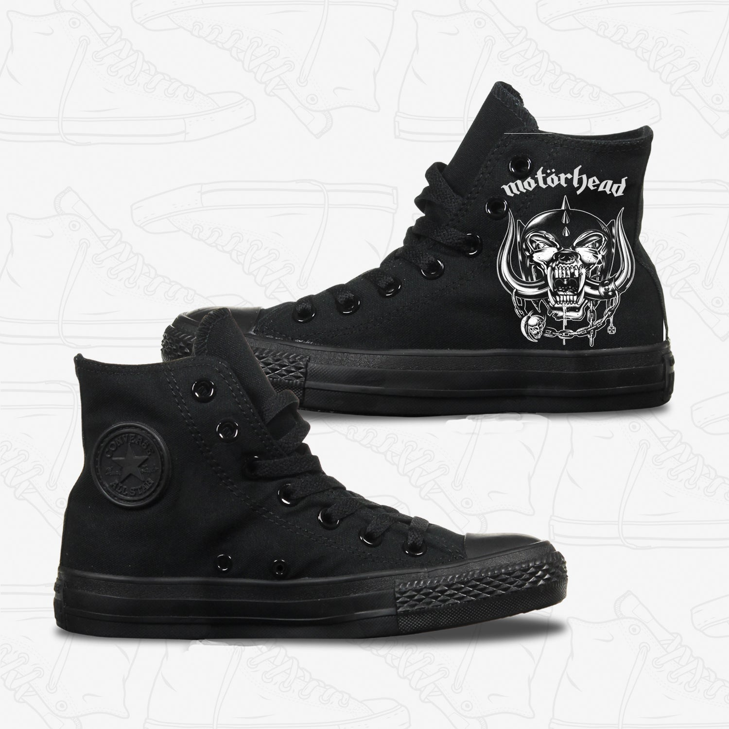 Motorhead Adult Converse Shoes