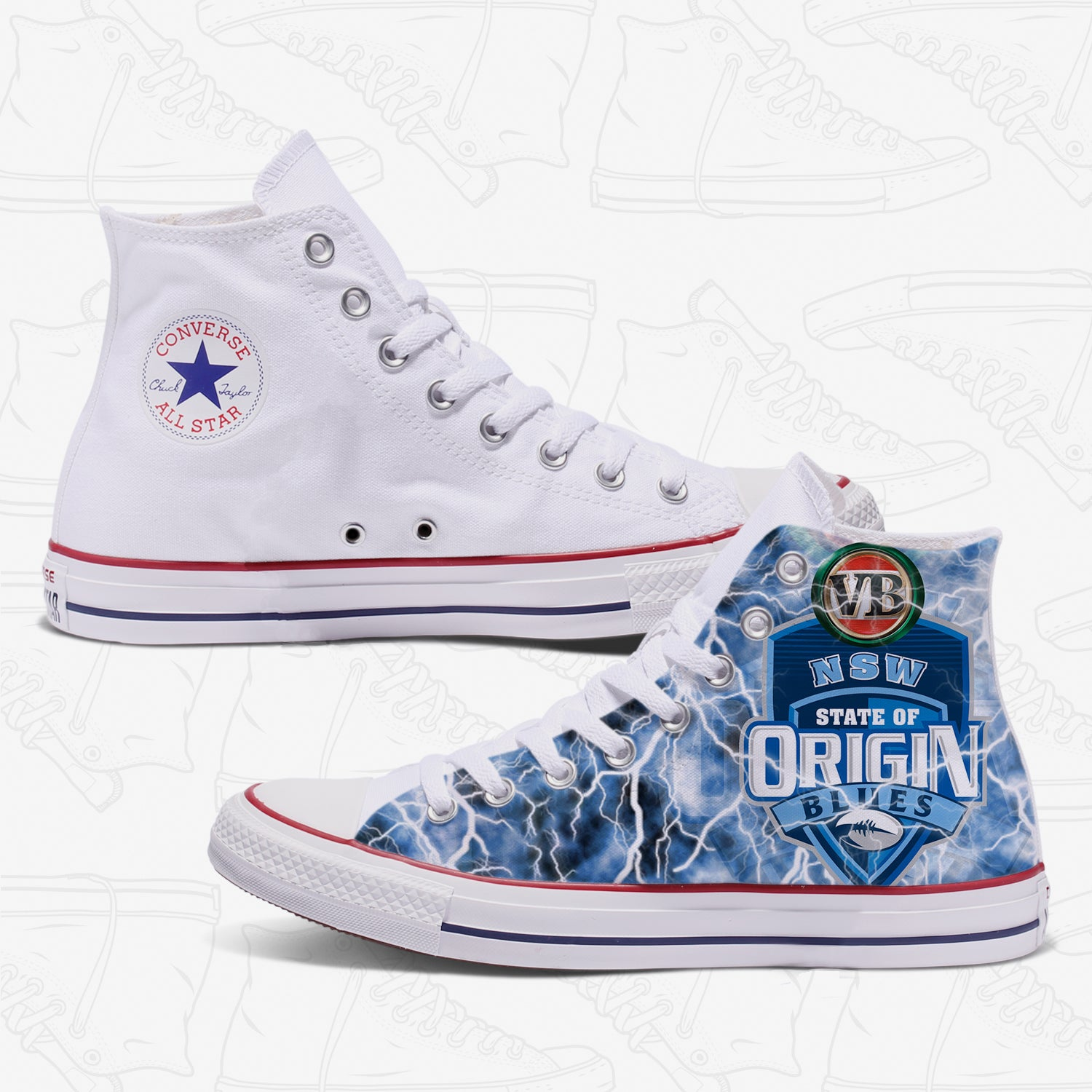 NSW State of Origin Adult Converse Shoes