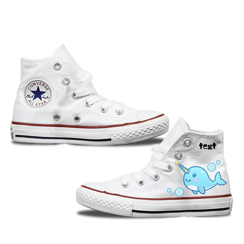 Narwhal Kids Personalised Converse