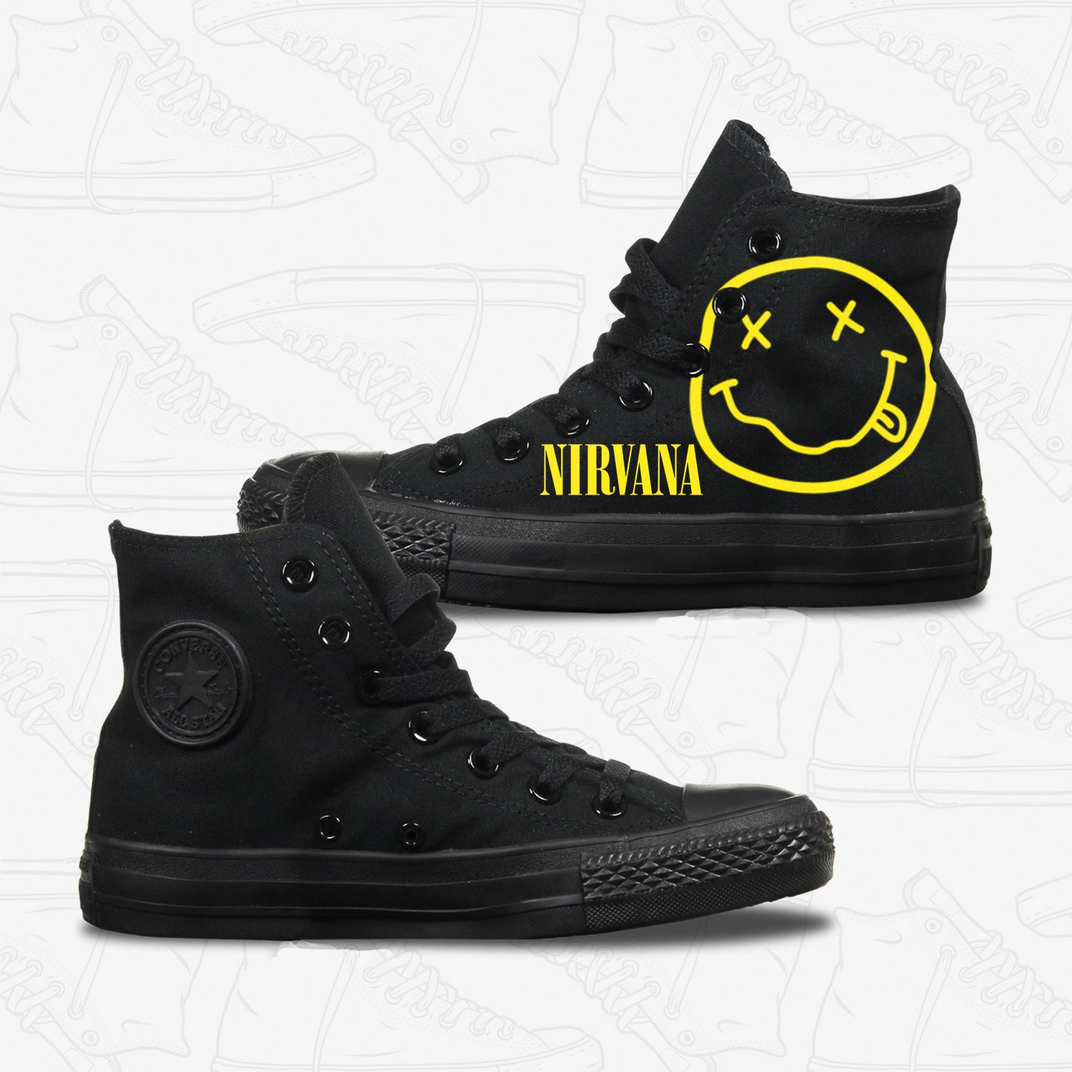 Nirvana Adult Converse Shoes