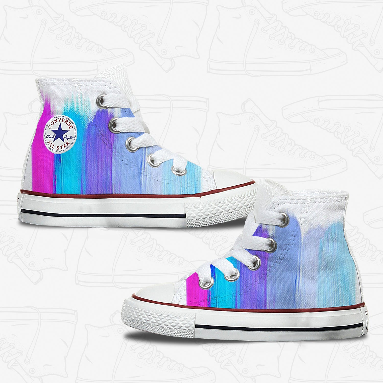 89f19f6a660f77 Converse Custom Painting Kids Shoes