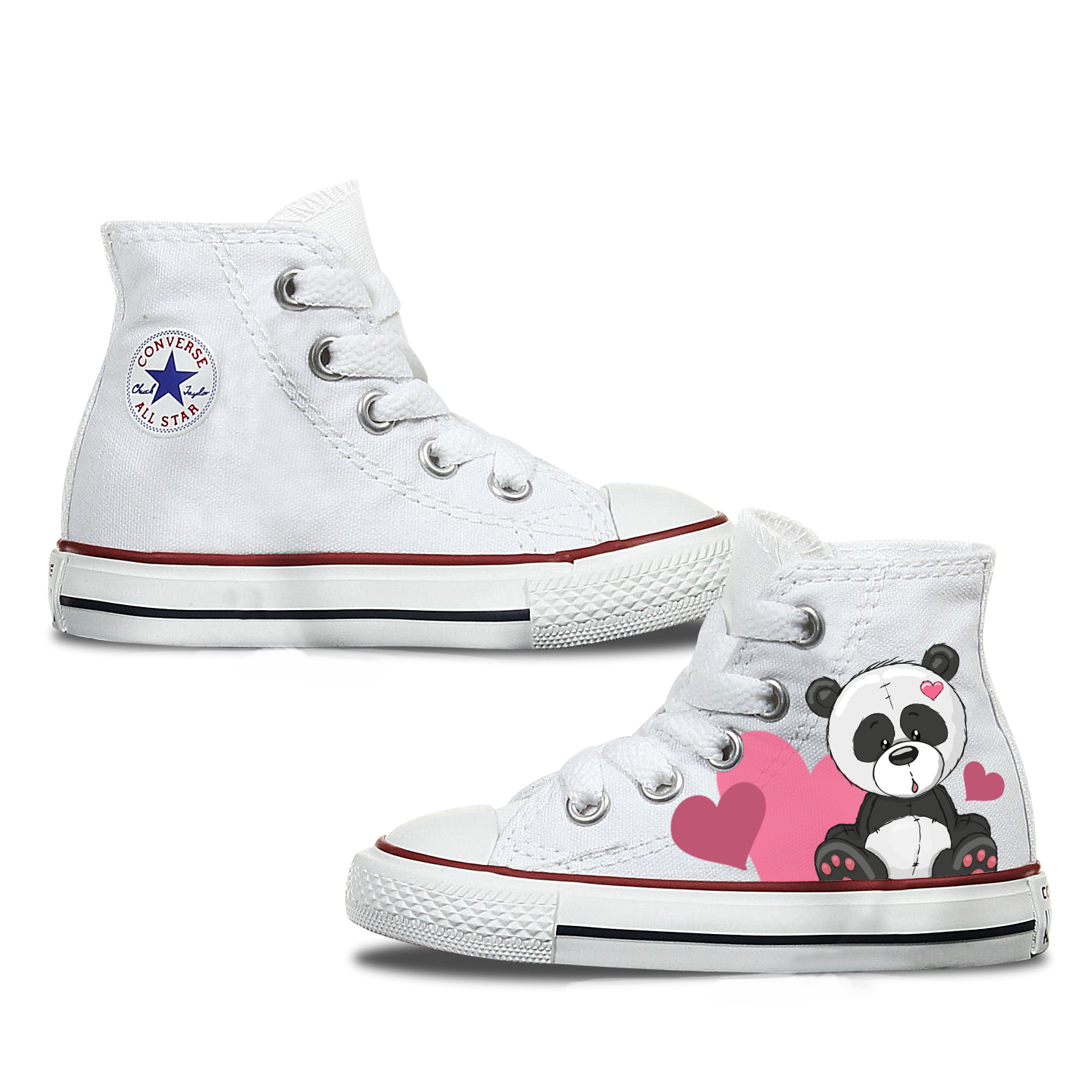 Panda Kids Converse Shoes