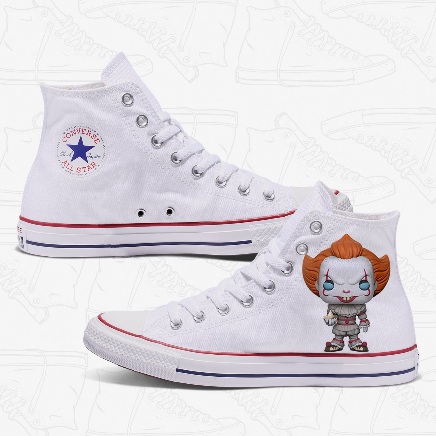 Pennywise IT Adult Converse Shoes