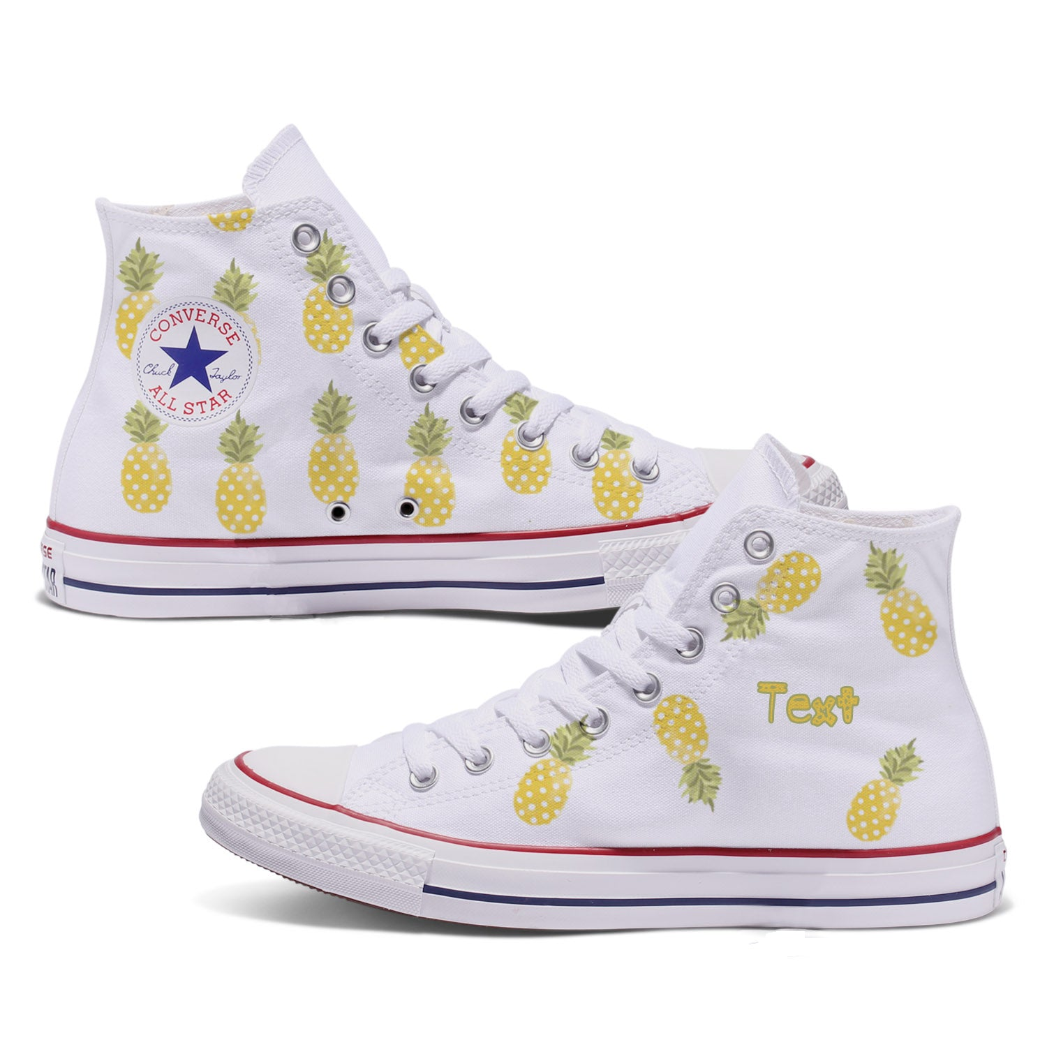 Pineapple Custom Adult Converse Chuck Taylor