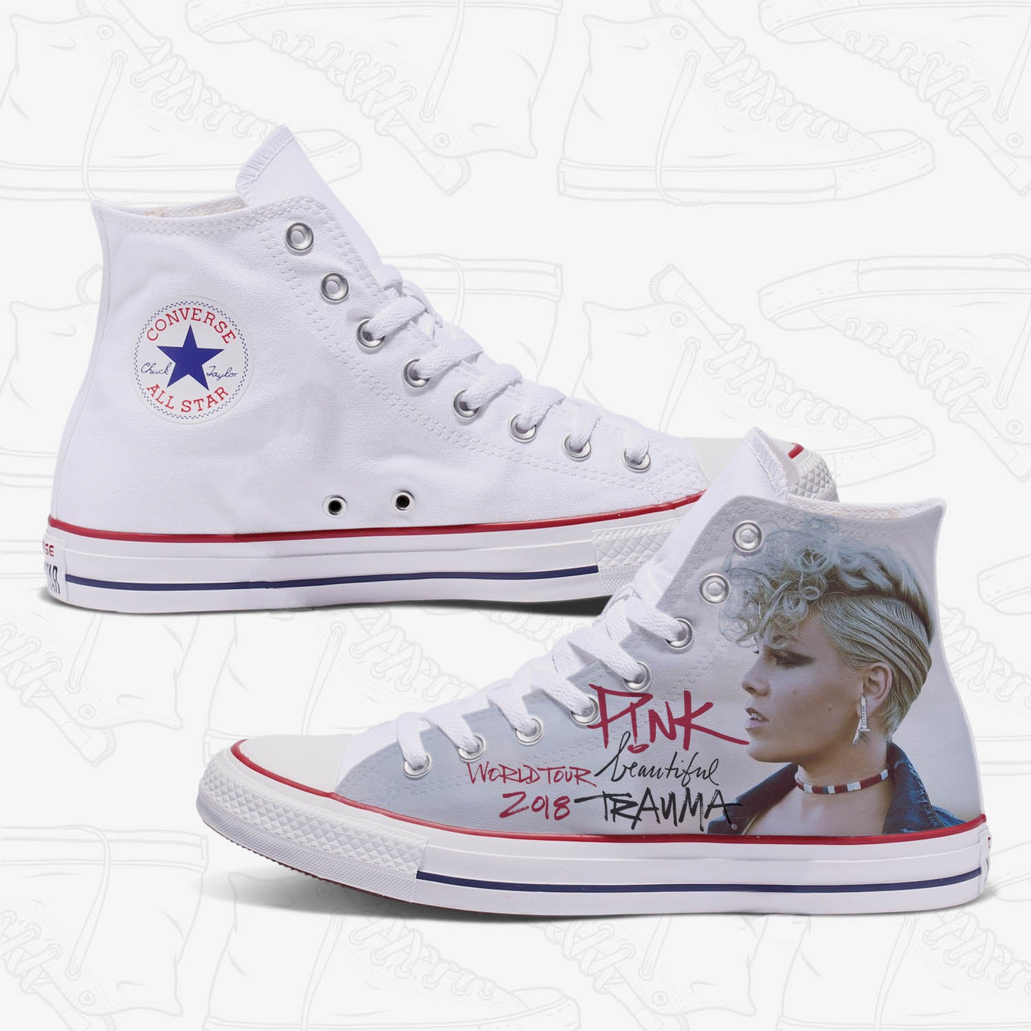 9cd1fa1a3af3 Womens Custom Shoes - Converse All Star Chuck Taylors