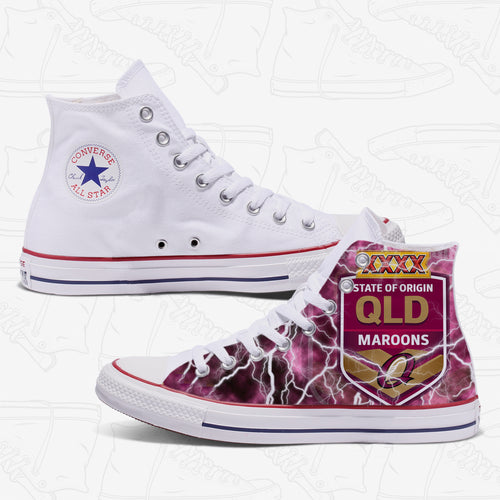 QLD State of Origin Adult Converse Shoes