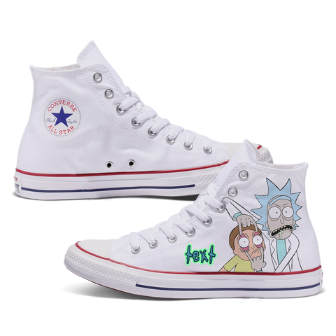 Rick N Morty Custom Converse