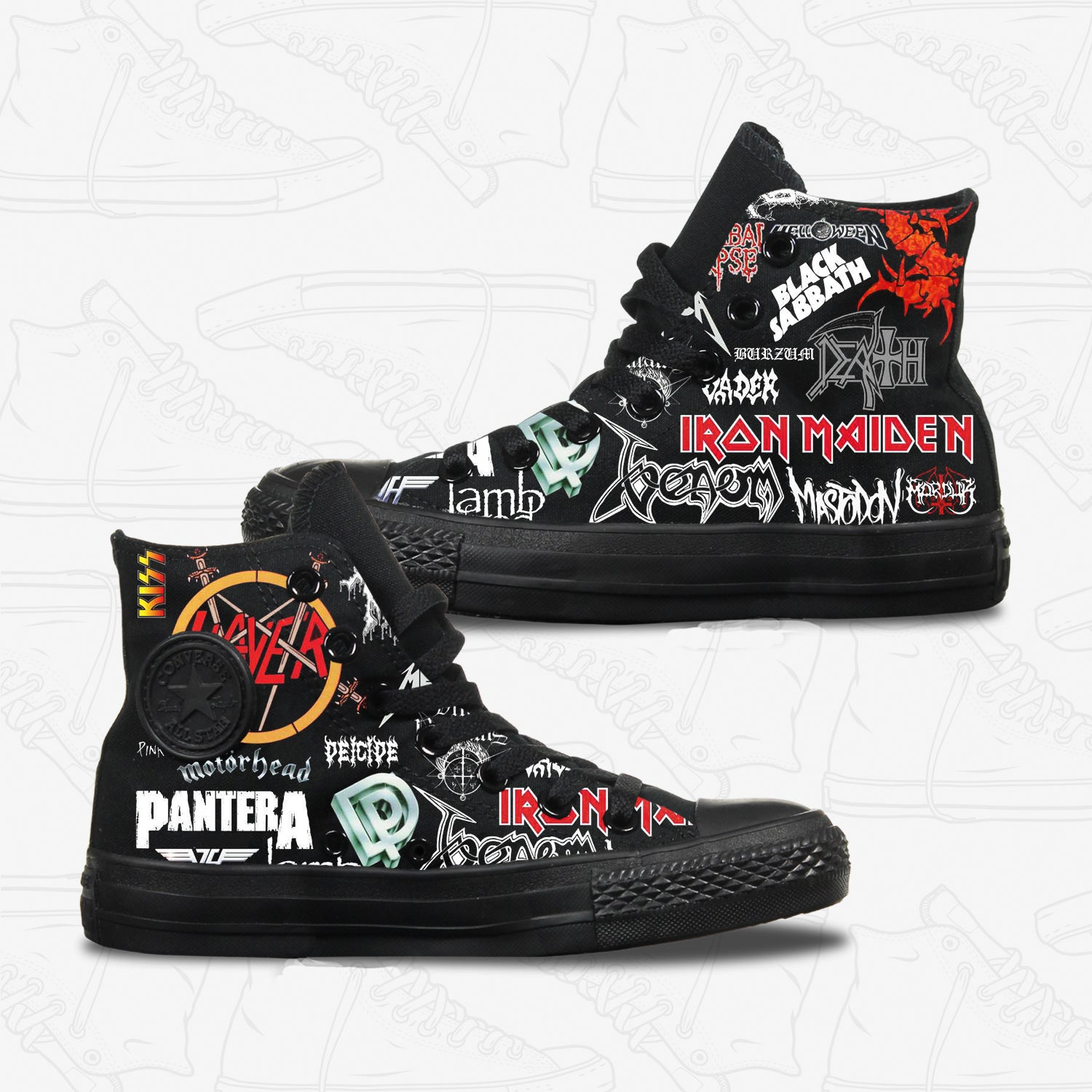 0fcf3ee52067 Converse Custom Iconic Rock Bands Adult Shoes