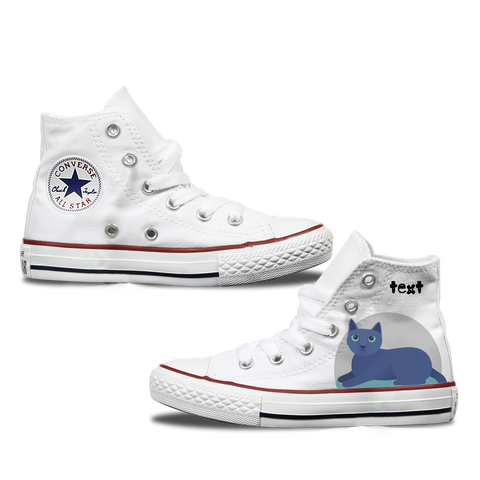 Russian Blue Kids Personalised Converse
