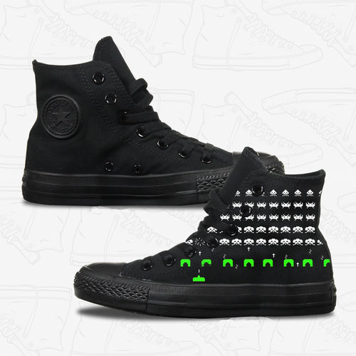Space Invaders Adult Converse Shoes