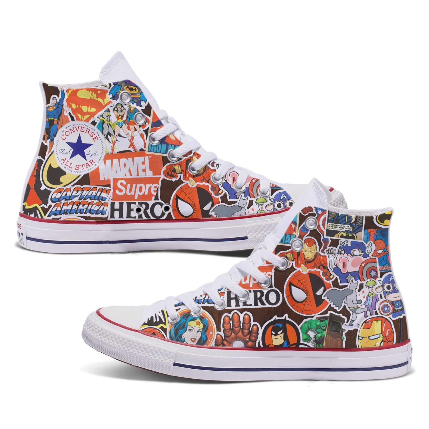 Marvel Stickerbomb Adult Custom Converse