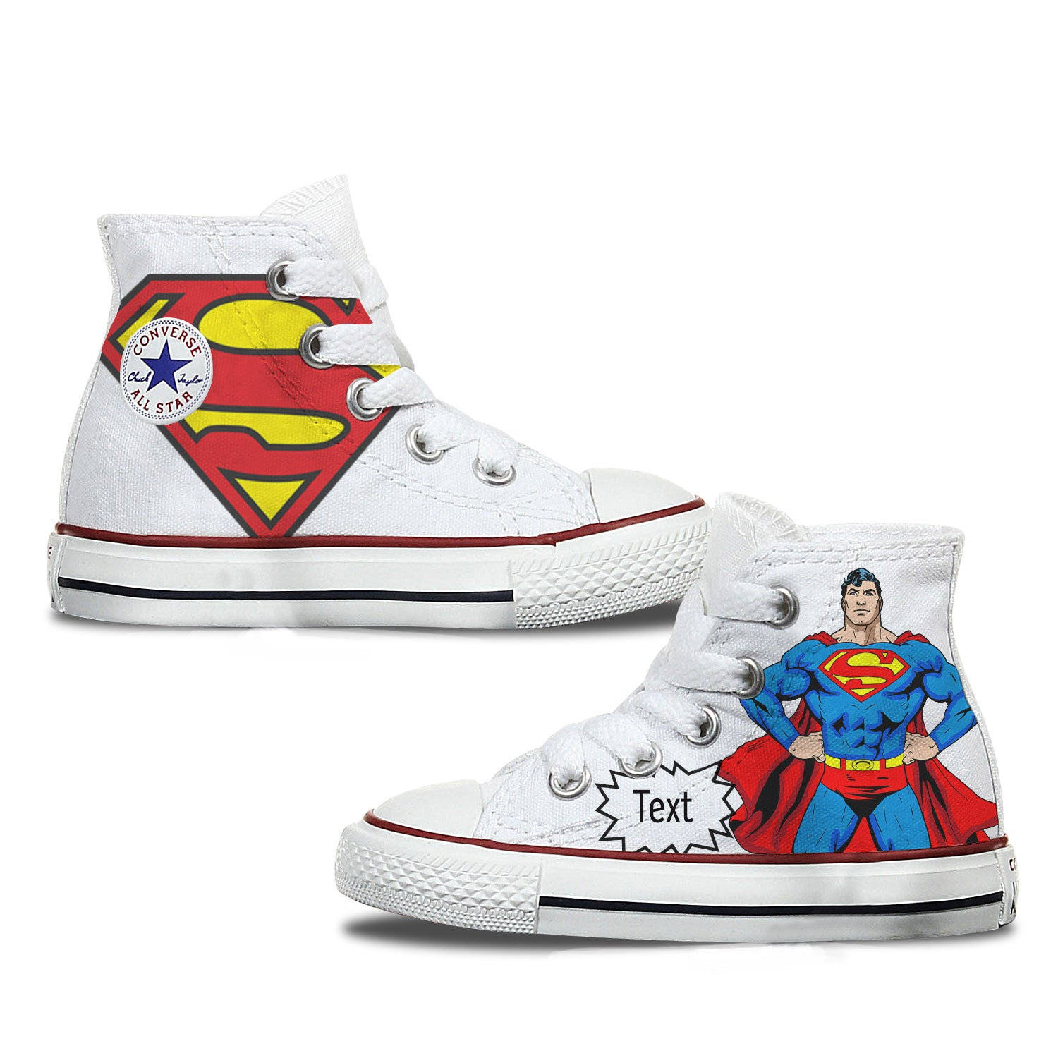Toddler Superman Custom Converse