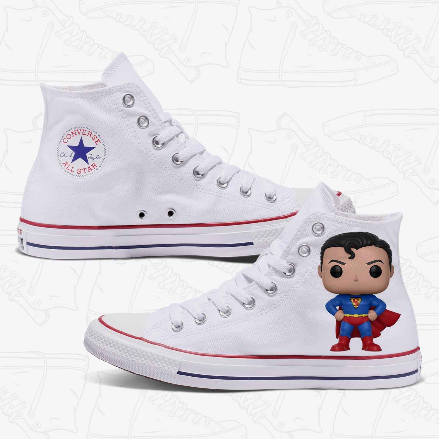 Superman Adult Converse Shoes