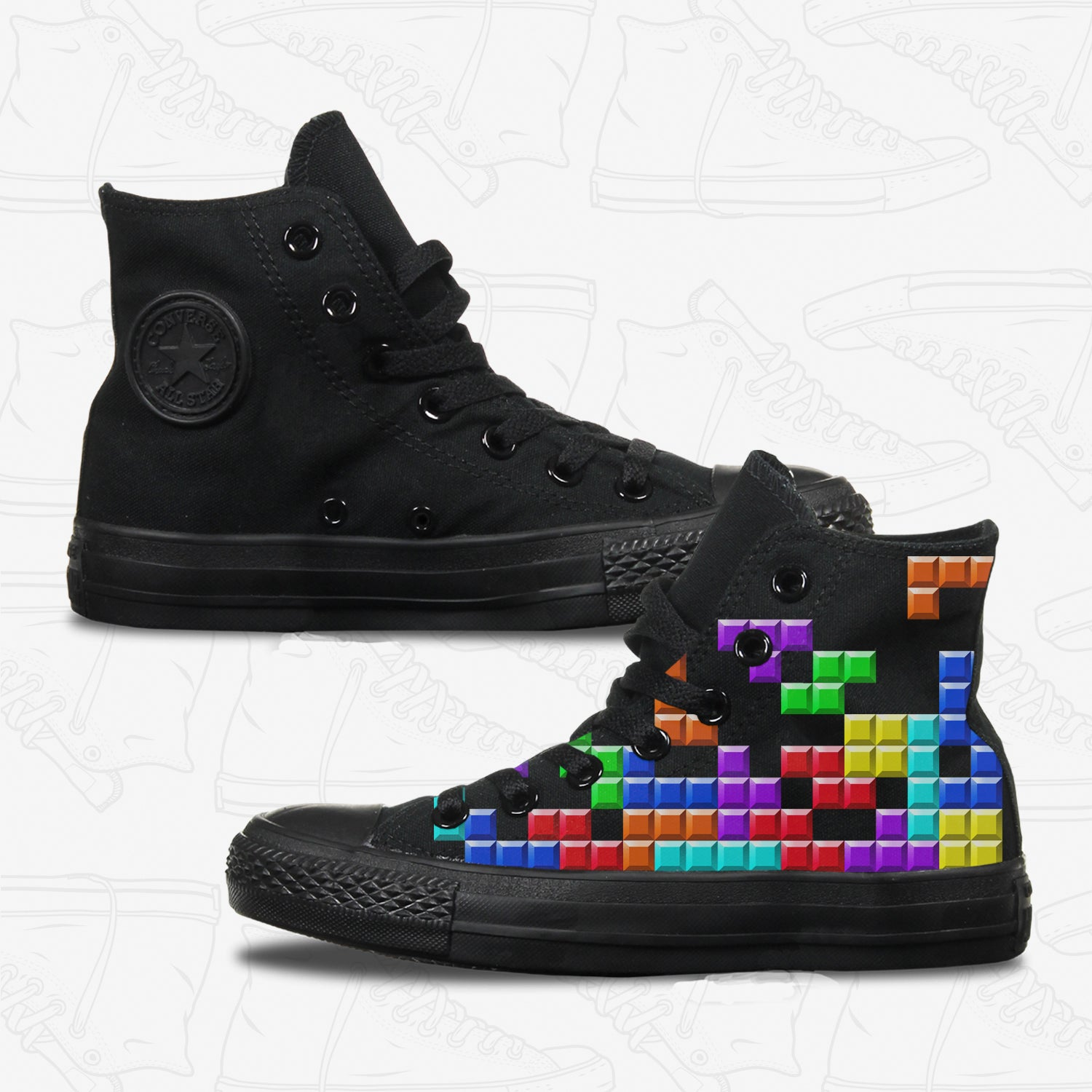 Tetris Adult Converse Shoes