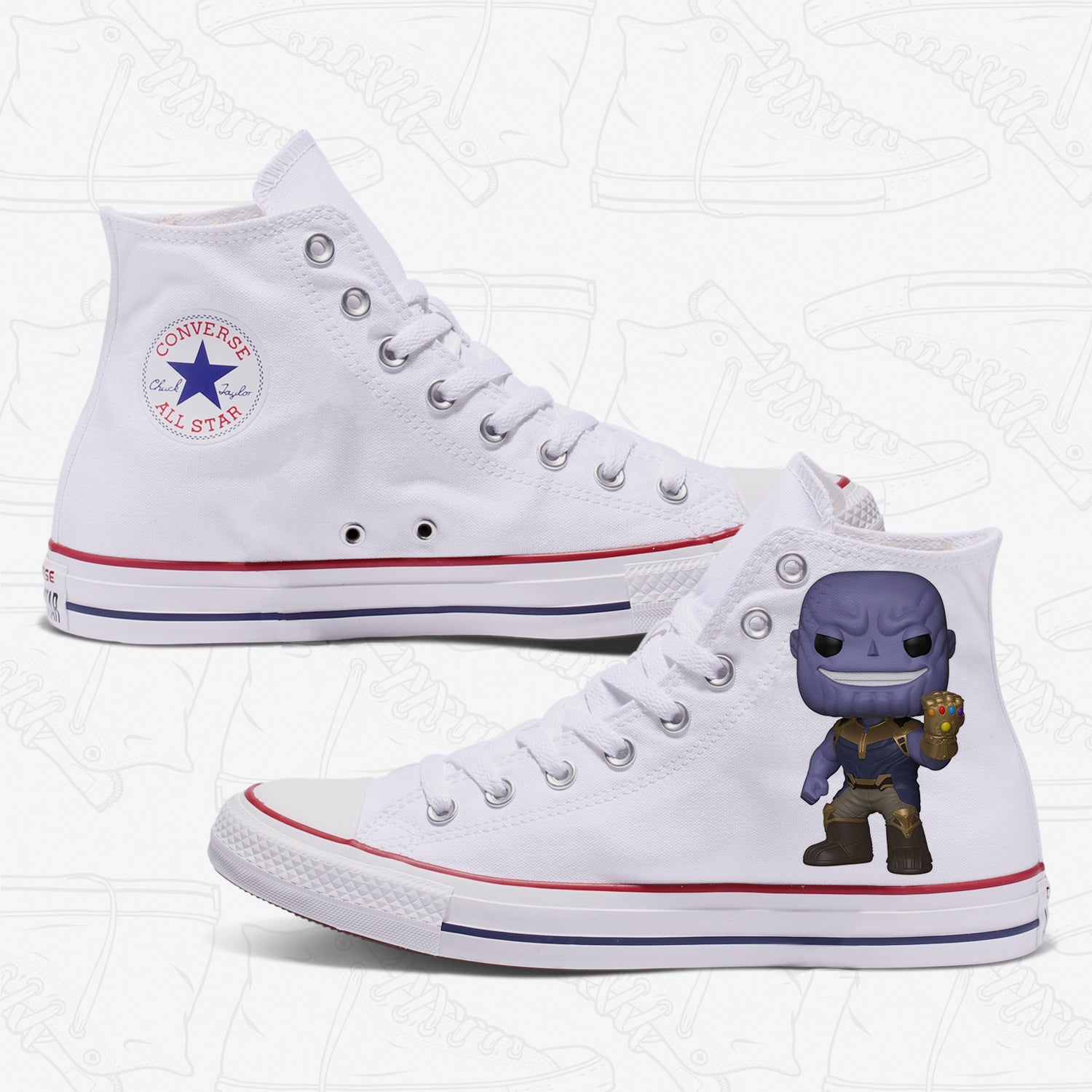 Thanos Adult Converse Shoes White