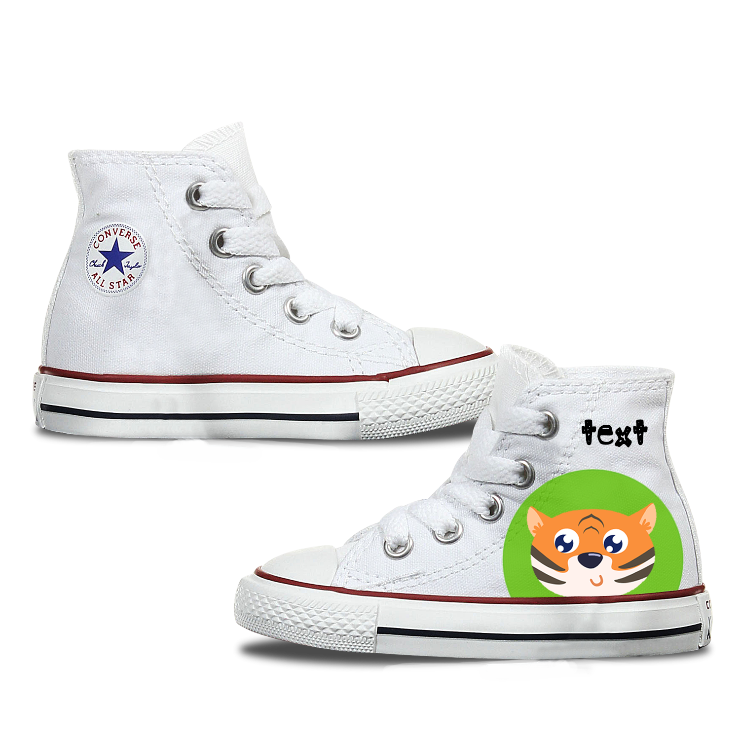 Tiger Kids Personalised Converse