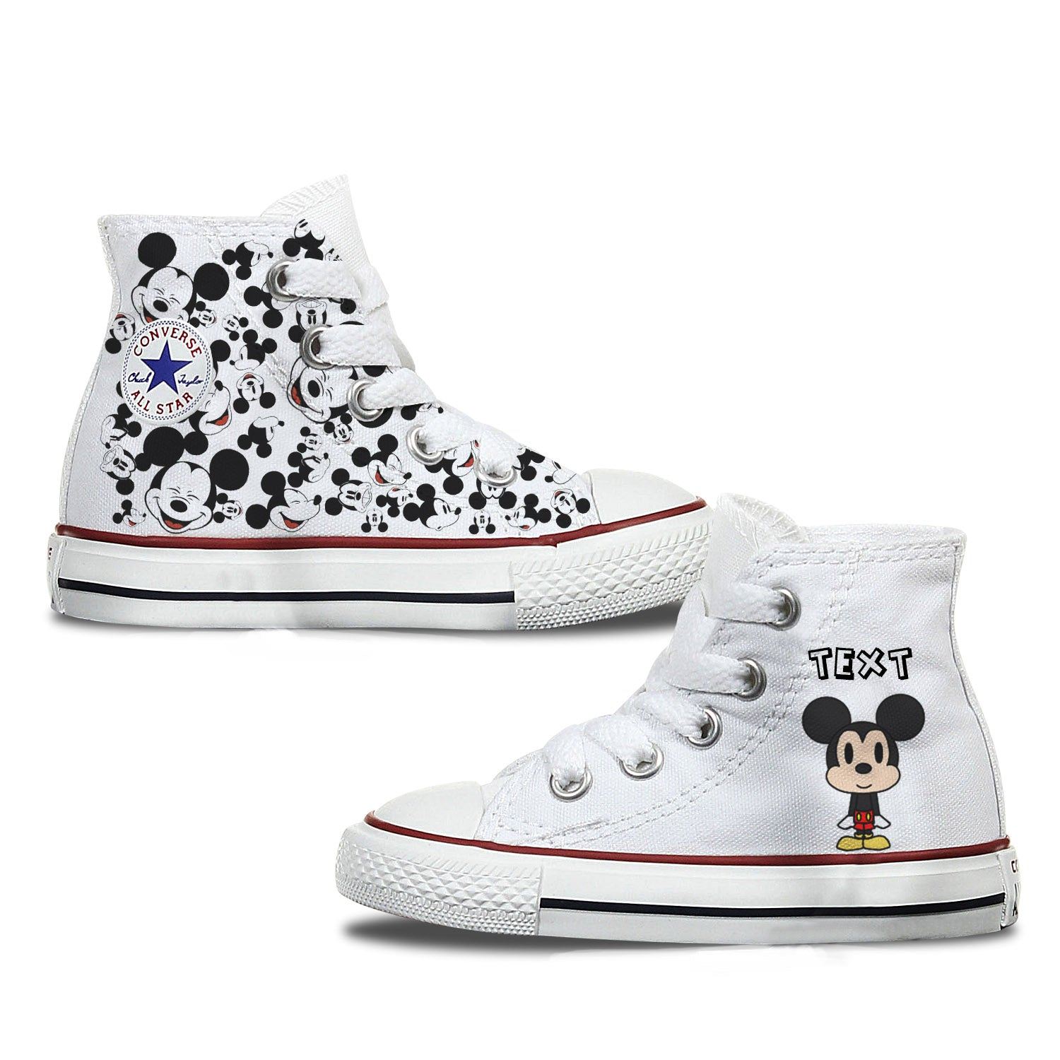Mickey Mouse Kids Custom Converse
