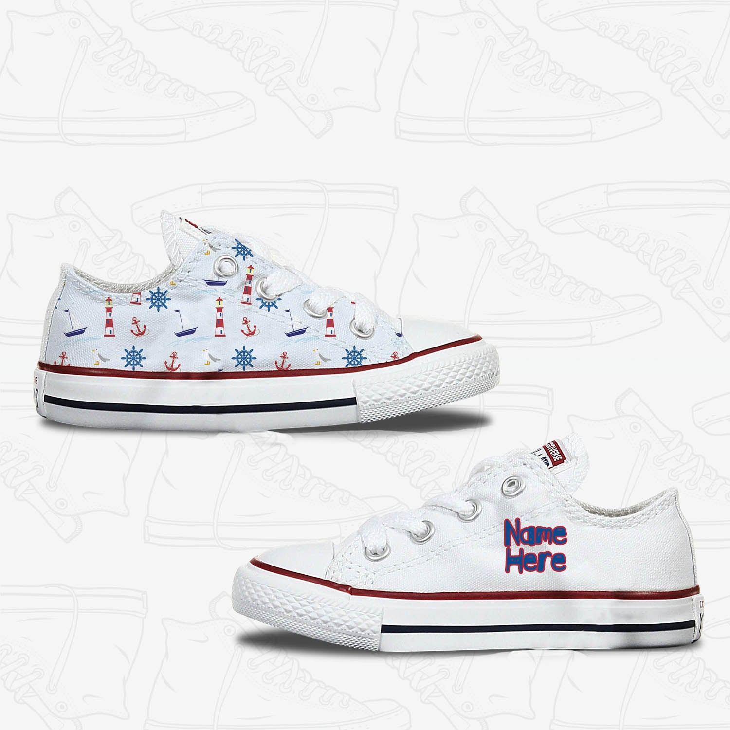 Nautical Toddler Converse