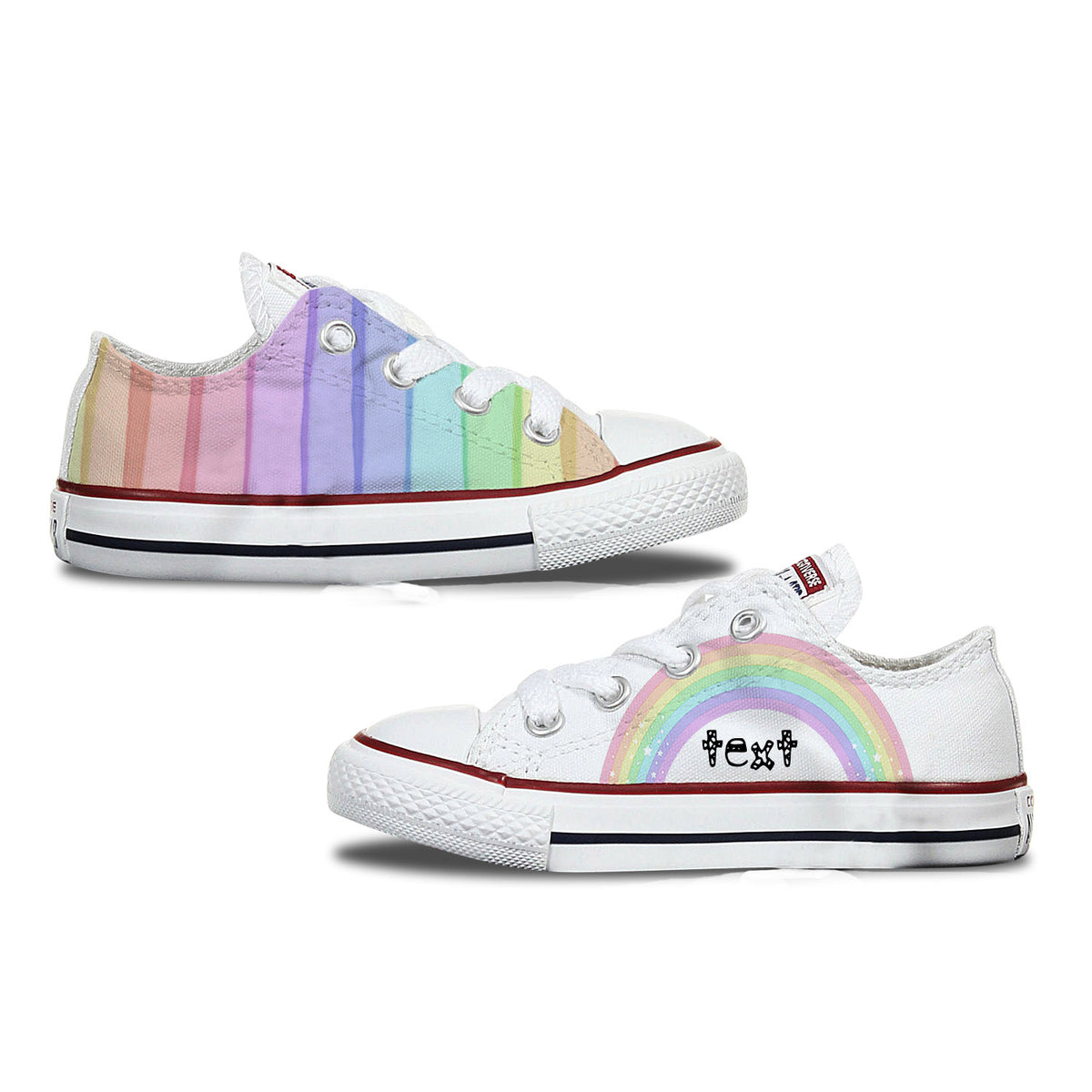 Rainbow Kids Custom Converse