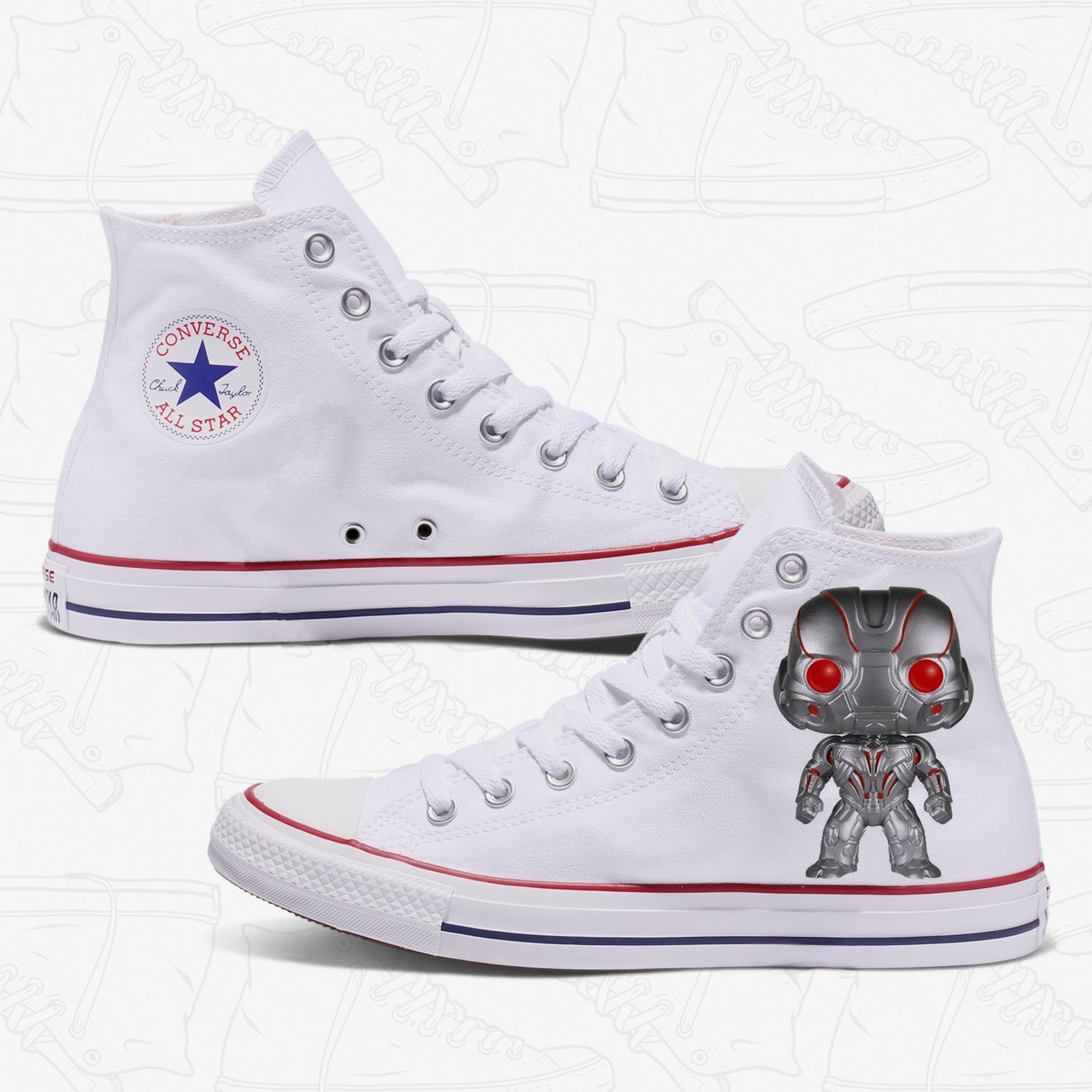 Ultron Custom Converse White