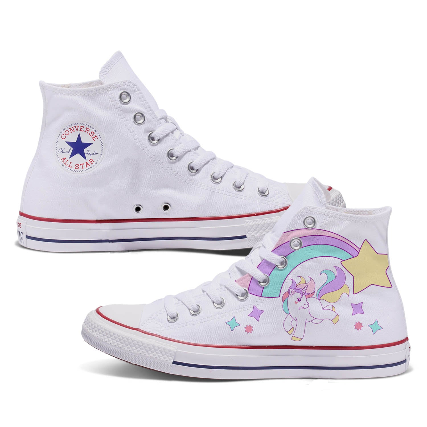 Unicorns & Rainbows Adult Custom Converse