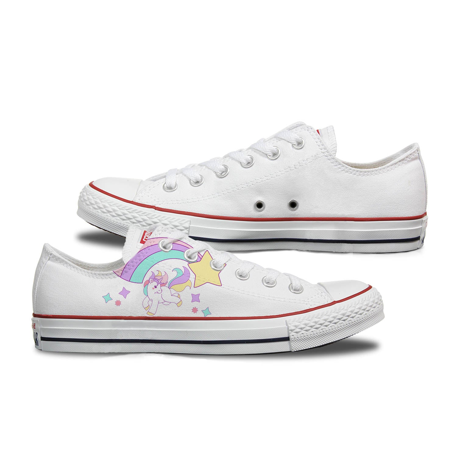 69d9c29724fa Converse Custom Unicorns   Rainbows Adult Shoes