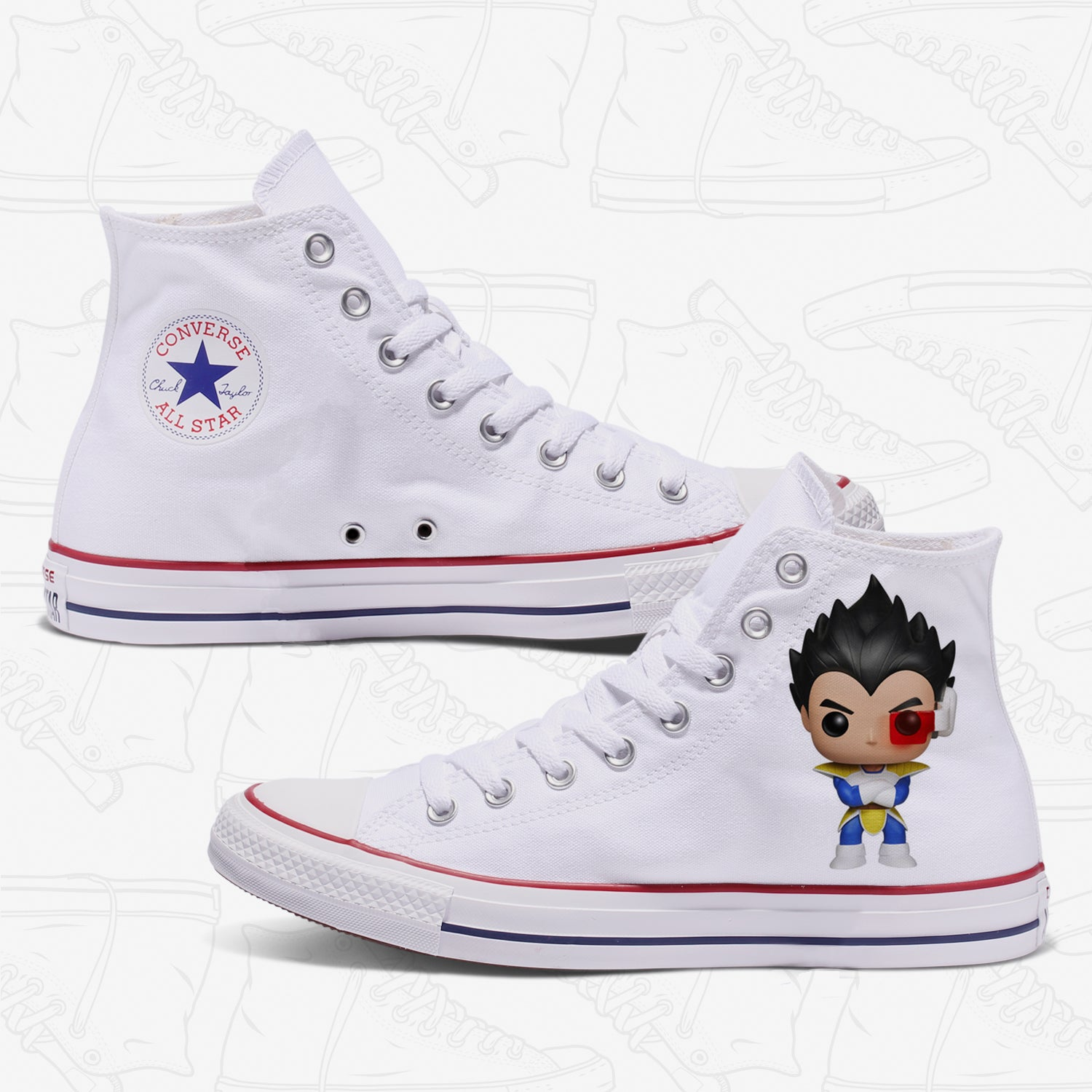 Vegeta Adult Converse Shoes