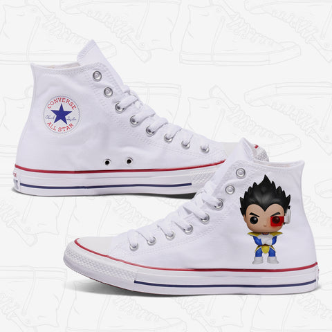 Vegeta Custom Converse White