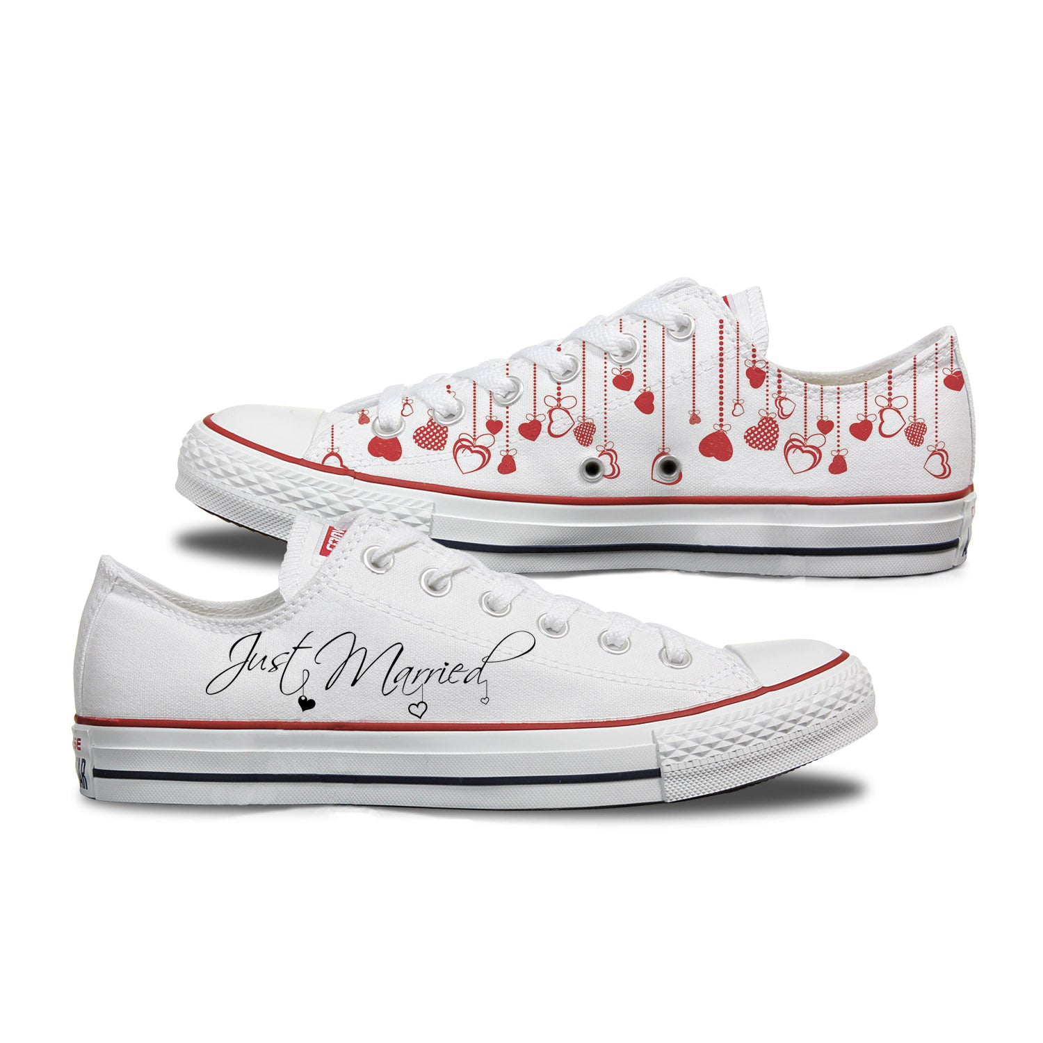 Just Married Custom Wedding Converse