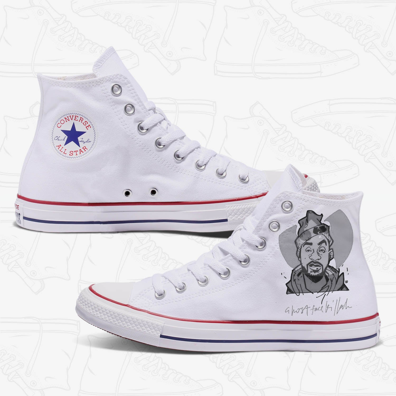 Ghostface Killah Adult Custom Converse