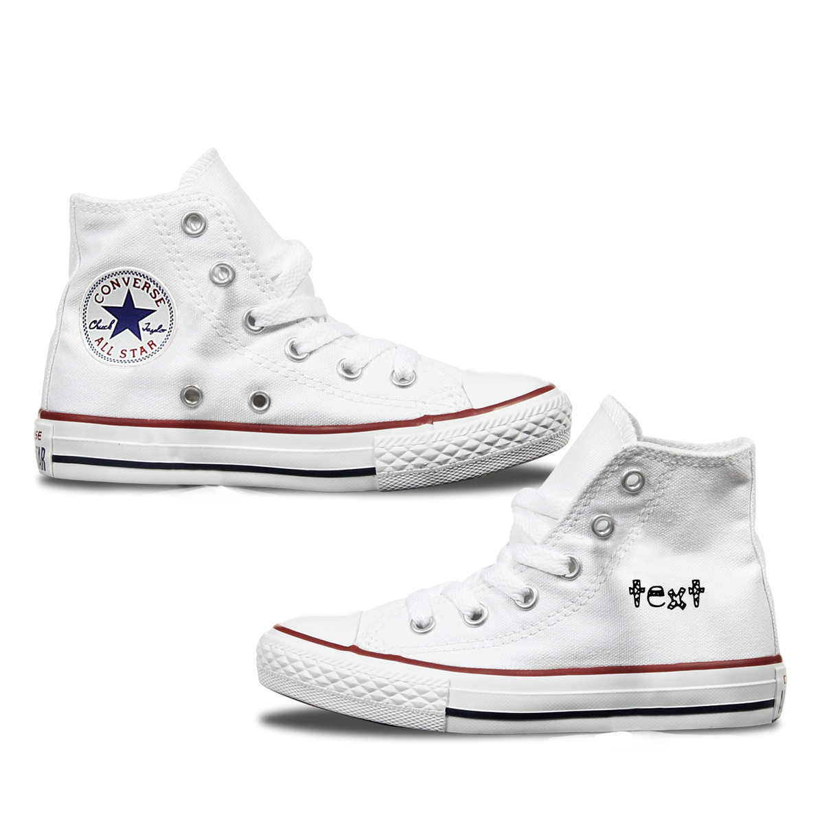 Kids Custom Personalised Converse