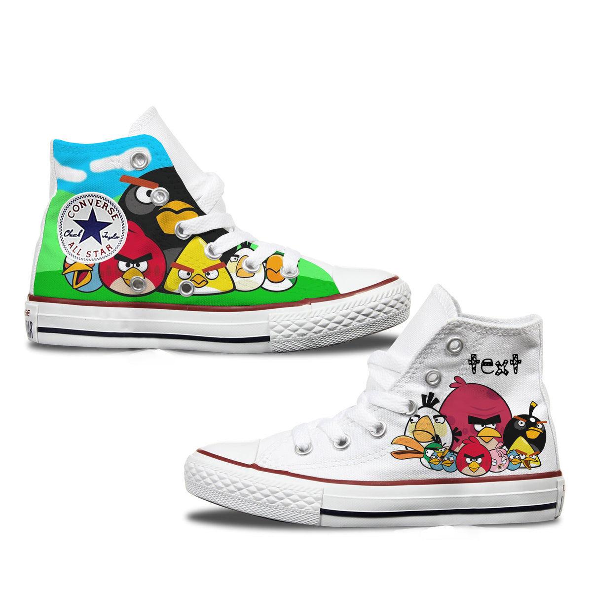 Angry Birds Personalised Converse