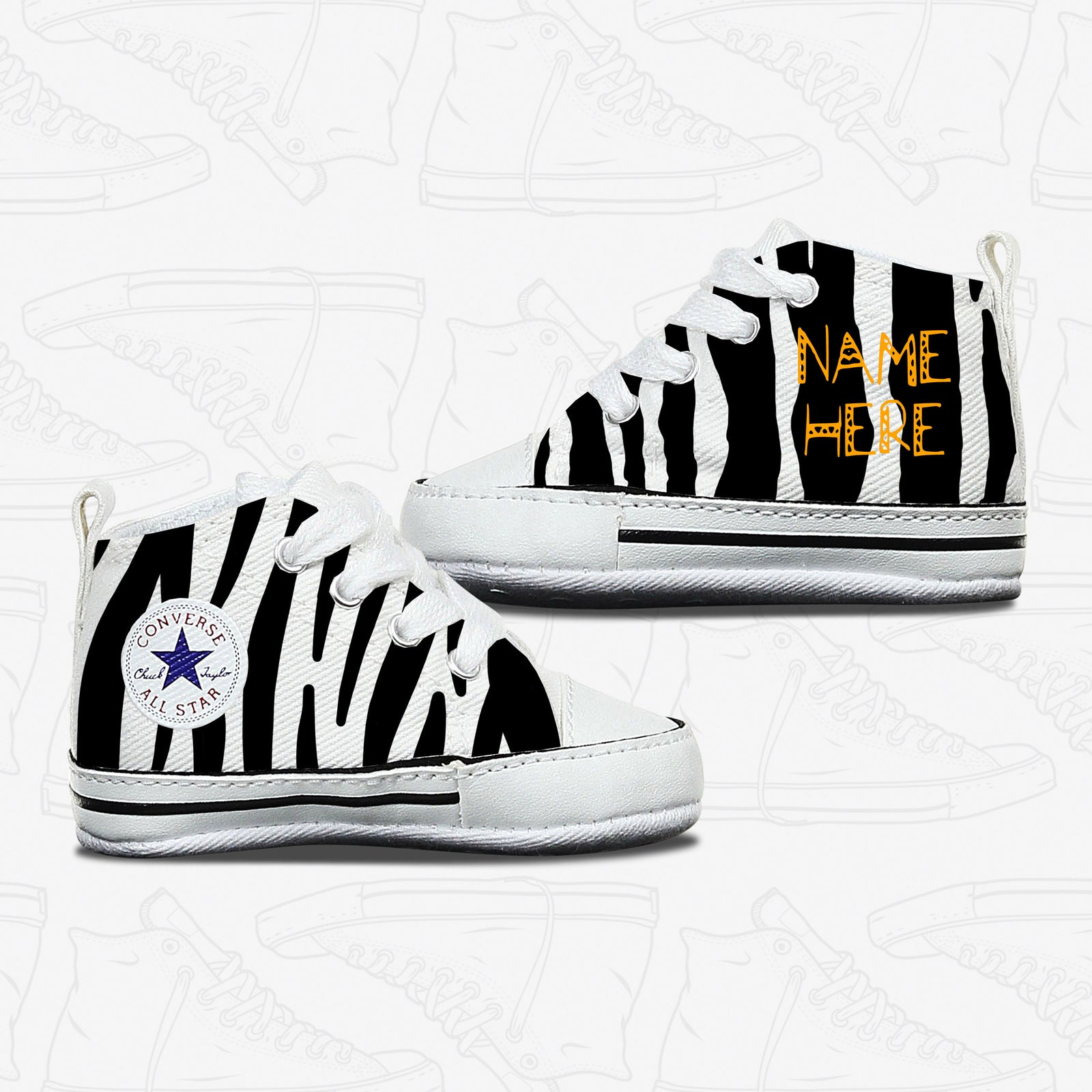 Zebra Baby Infant Converse Shoes