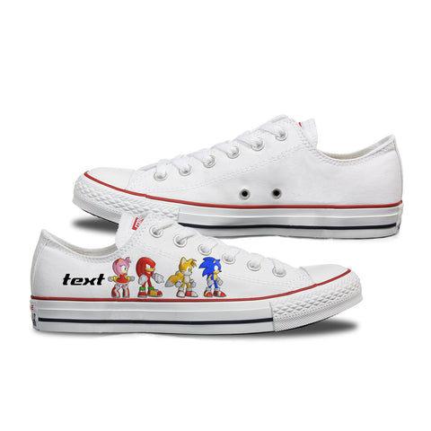 Sonic Custom Converse Low Top White