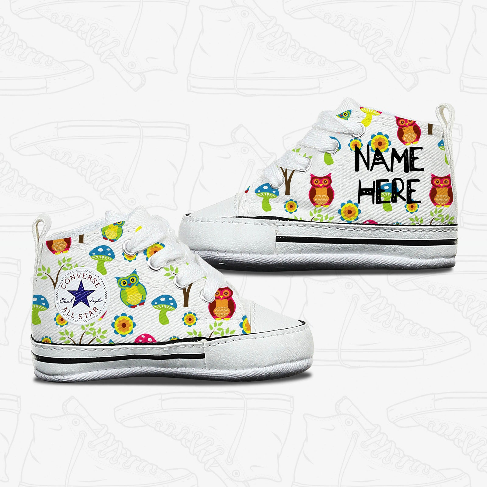 Owl Baby Infant Converse Shoes