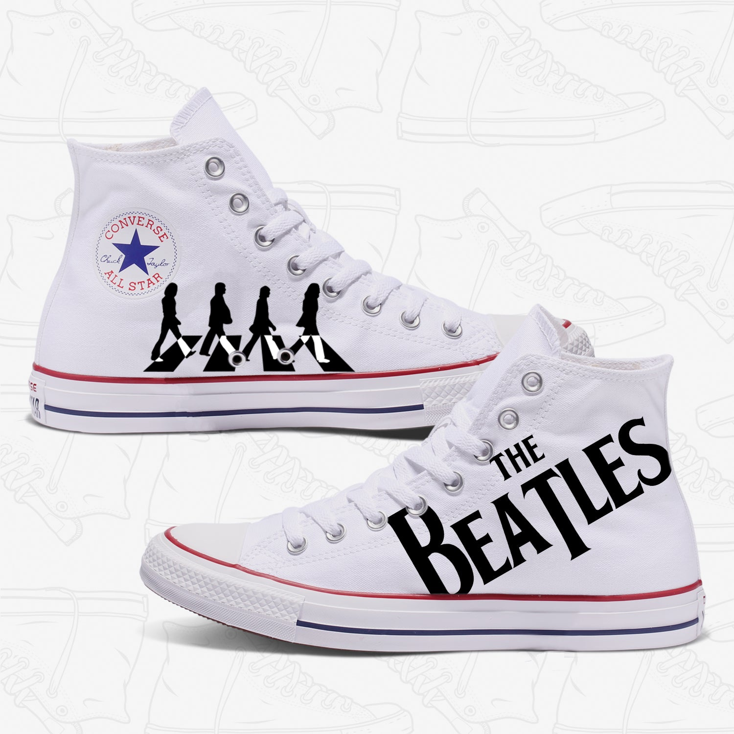 efc628056738 Converse Custom The Beatles Adult Shoes