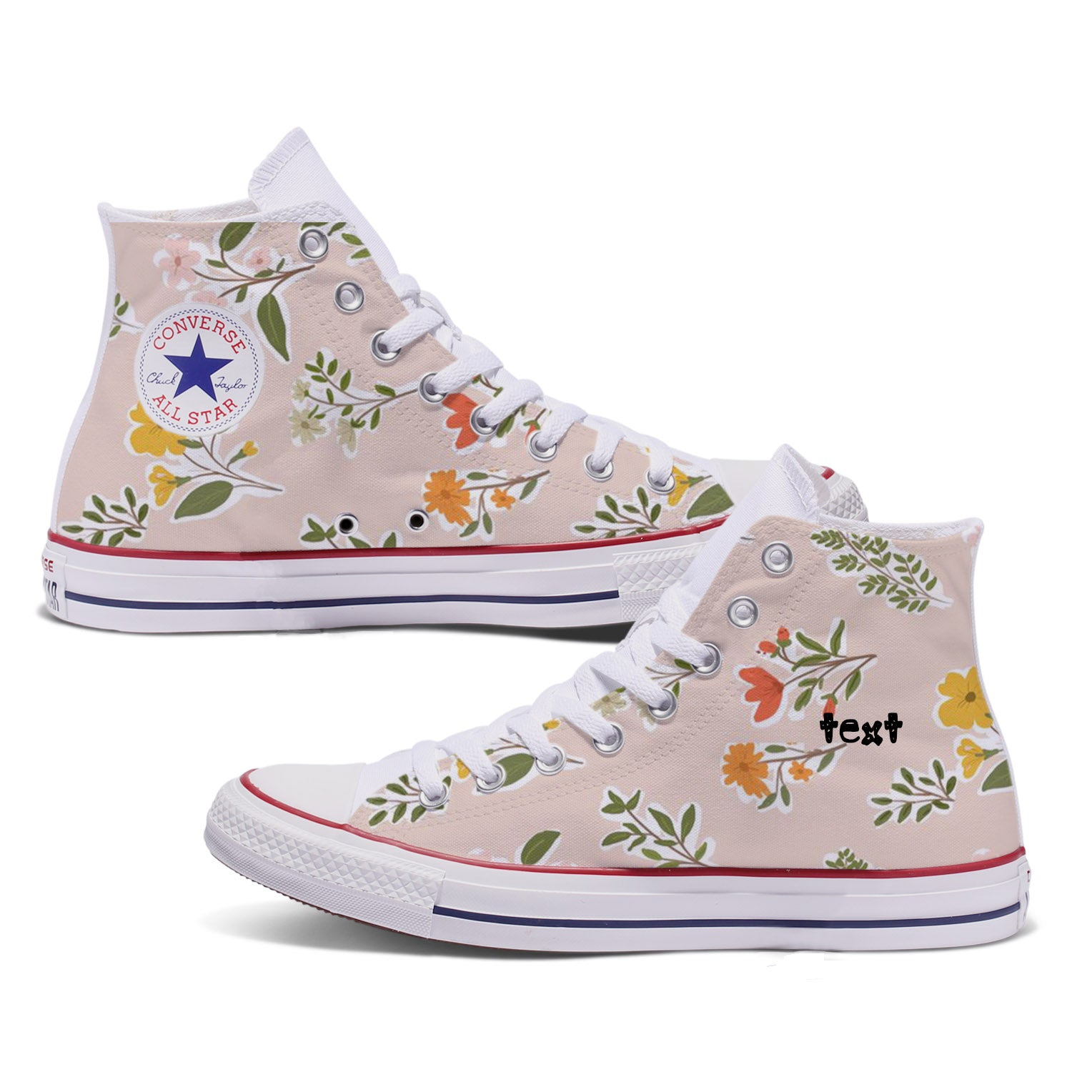 Floral Pattern Custom Converse