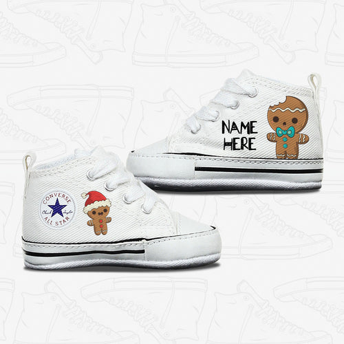 Christmas Gingerbread Man Baby Converse