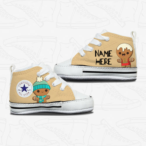 Gingerbread Man Design Baby Converse