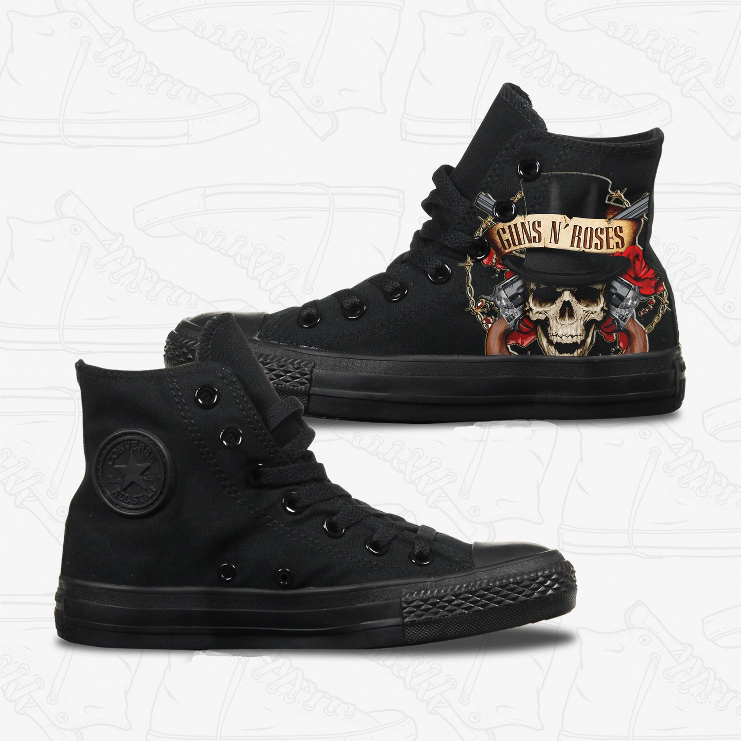 Guns n Roses Adult Converse Shoes