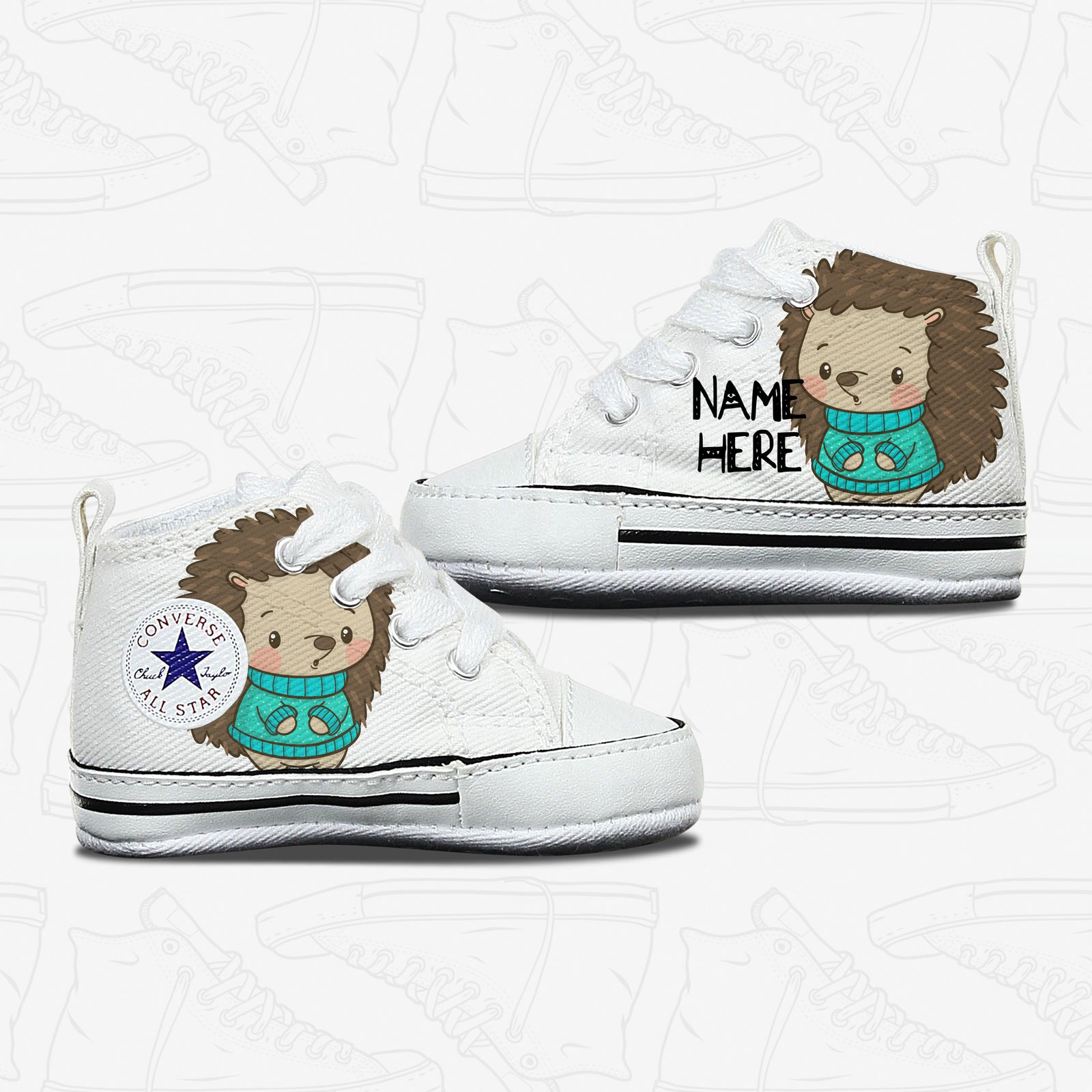 Winter Hedgehog Baby Converse