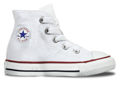 High Top Custom Converse Chuck Taylor Toddler Shoe - Classic White
