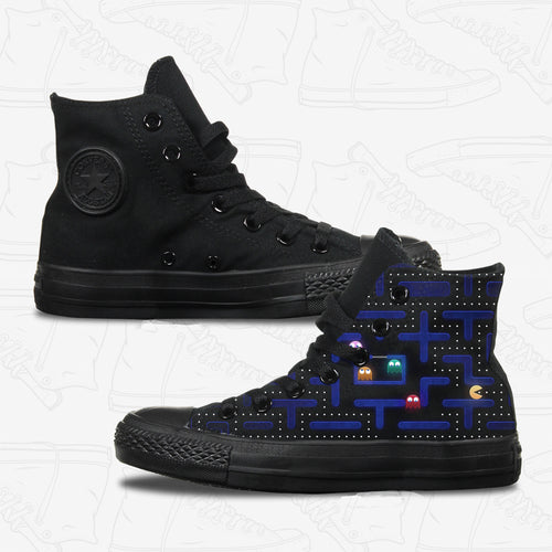 Pac Man Adult Converse Shoes