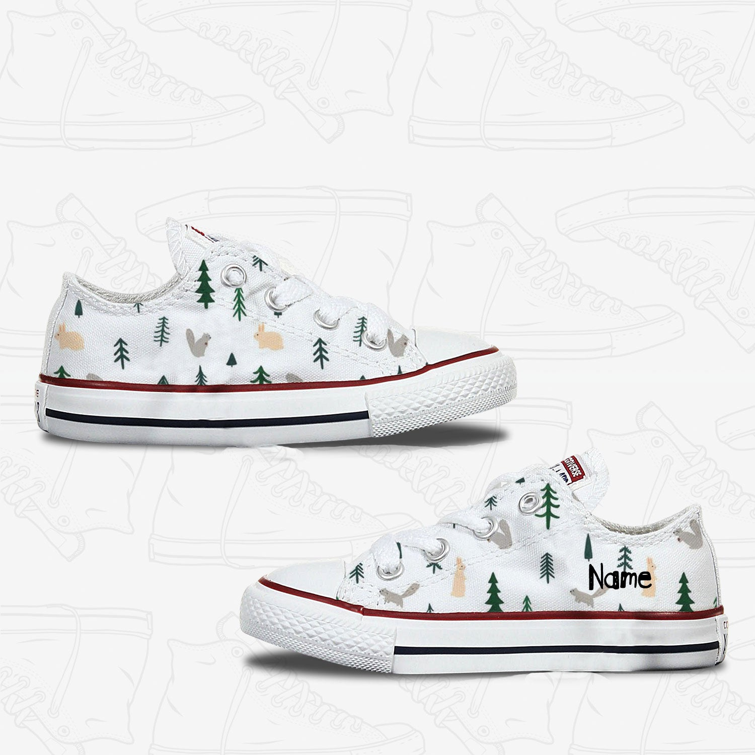 Squirrels & Rabbits Kids Converse